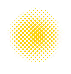 halftone dots colored abstract background in pop vector image vector image