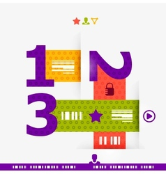Numbered banners infographics vector image