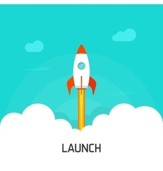 Rocket launch concept of vector image vector image