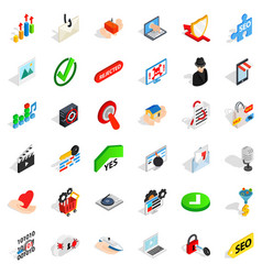secure safety icons set isometric style vector image vector image