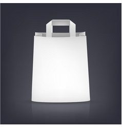 white paper bag on dark vector image vector image