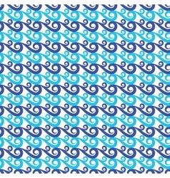 Blue waves seamless background vector image