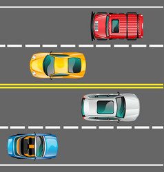 city traffic concept vector image