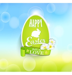 Easter eggs with ribbon vector image vector image