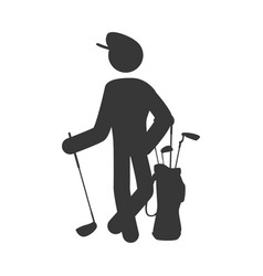 golf player pictogram vector image