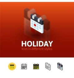 Holiday icon in different style vector image vector image