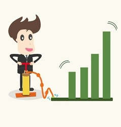 businessman make a chart going upbusiness idea vector image vector image