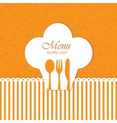 Card menu vector image