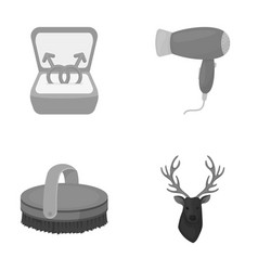Gays horse and other monochrome icon in cartoon vector