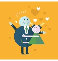 Happy Couple In Love smiling vector image vector image