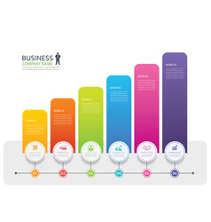 infographic 6 tab design and marketing template vector image