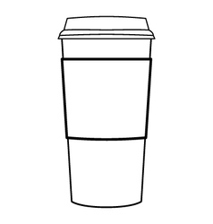 paper coffee cup outline vector image