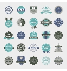 set of retro badges vintage labels icons vector image vector image
