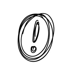 sketch exclamation mark in the circle vector image vector image