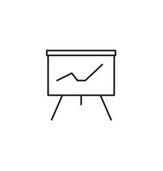 Stats presentation board icon vector