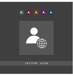 user icon sign business vector image
