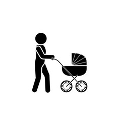 a man with a stroller father icon vector image