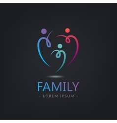 Abstract stylized family 3 team lead vector