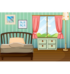 An empty bedroom vector image