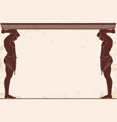 Ancient greek background vector