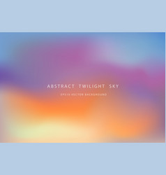 beautiful abstract twilight sky background vector image