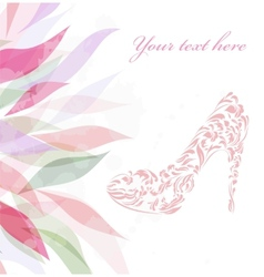 Beautiful fashion shoes background vector image
