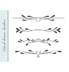 beautiful hand drawn elegant flourishes vector image