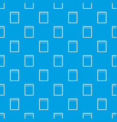 blank spiral notepad pattern seamless blue vector image