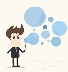 Blowing bubbles vector image