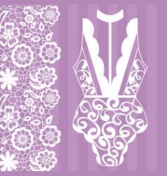 body lingerie lacy lingerie vector image