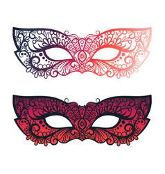 bright carnival festive masks vector image