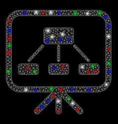 Bright mesh network scheme demonstration screen vector