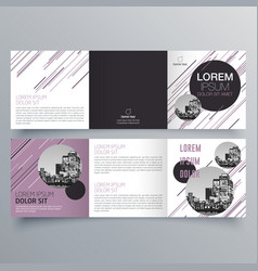 brochure design 510 vector image