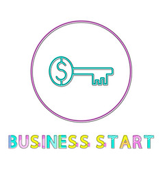 business start round web linear icon template vector image