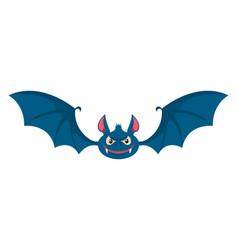 Cartoon halloween bat design element for poster vector