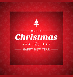 christmas card with dark red pattern background vector image