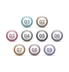 Circles with Numbers vector