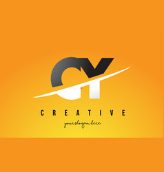 cy c y letter modern logo design with yellow vector image