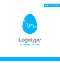 decoration easter easter egg egg blue solid logo vector image