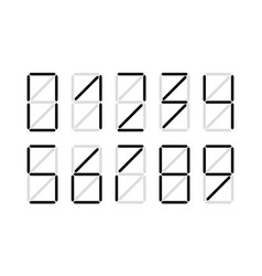 Digital number set vector