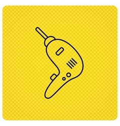 Drill tool icon Electric jack-hammer sign vector