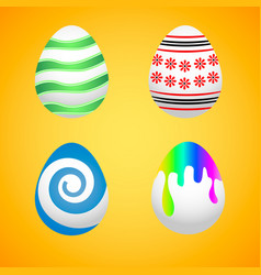easter eggs easter eggs for easter holidays vector image