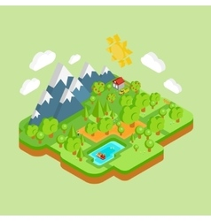 Environment Friendly Natural Landscape vector image