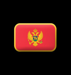 Flag of montenegro matted icon and button vector