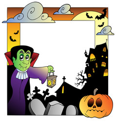 Frame with halloween topic 2 vector