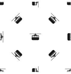 Funicular pattern seamless black vector