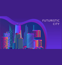 futuristic energy technology and cityscape vector image