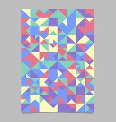 Geometrical abstract triangle tile poster vector