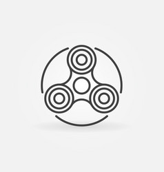 Hand fidget spinner icon vector