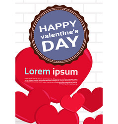 happy valentines day modern greeting card template vector image
